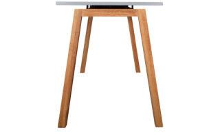 Birou Cipriano, Lemn Masiv Stejar, Blat Gri, 135x60x74cm