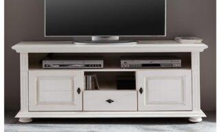 Comodă TV Ariana, Lemn masiv, 137x45x65cm, Alb