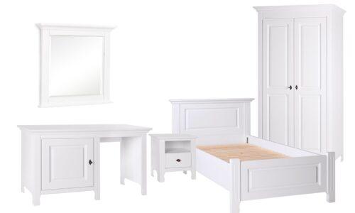 Set Dormitor Sophie, Lemn Masiv, Alb