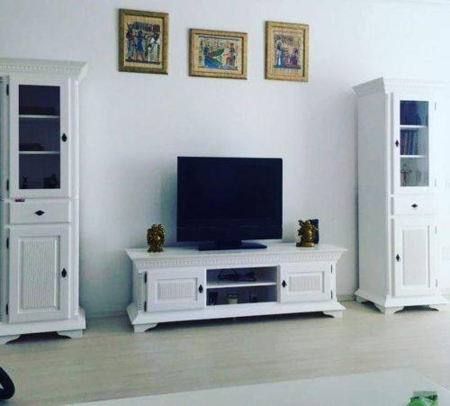 Set Living Kassia, Lemn Masiv, Alb photo review