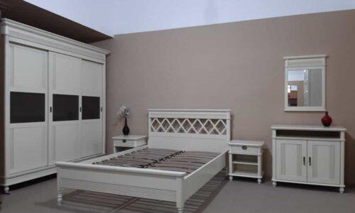 Set Dormitor Tineret Elliot, Lemn Masiv, Alb Antic, Configurabil photo review