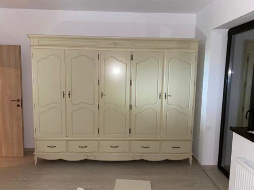 Set Dormitor Casandra, Lemn Masiv, Alb Antic photo review