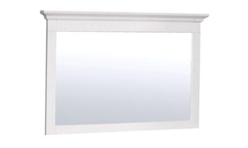Oglindă, Lemn masiv, 90x7x65cm, Alb