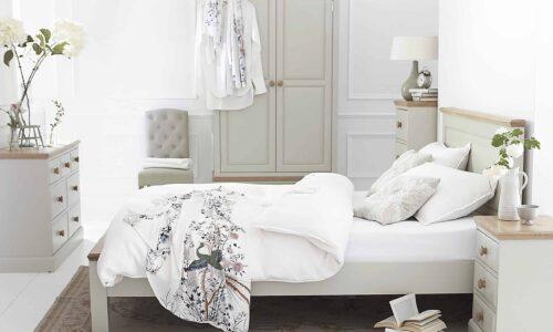 Set Dormitor Sussane, Lemn Masiv, Gri/Natur, Configurabil