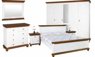 Set Dormitor Celia, Configurabil, Alb/Nuc