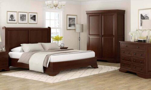 Set Dormitor Louis, Configurabil, Lemn Masiv, Nuc