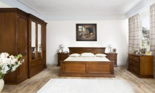 Set Dormitor Bernhard, Lemn Masiv, Nuc