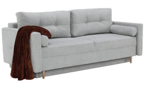 Canapea Annette Gri, Extensibilă, cu Depozitare, 216 cm
