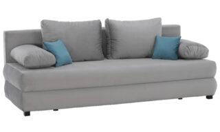 Canapea Isabel Gri, Extensibilă, cu Ladă Depozitare, 206 cm