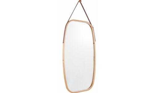 Oglindă, Lemn Bambus, 43×76 cm