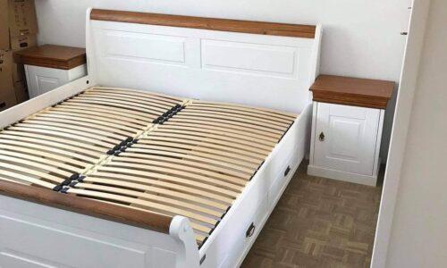 Set Dormitor Florence, Lemn Masiv, Alb-Natur photo review