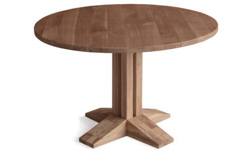 Masă Dining Noah, Rotundă, Stejar Masiv
