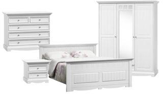 Set Dormitor Linea, Lemn Masiv, Alb