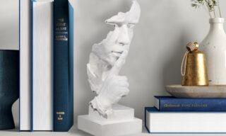 """Statuetă - """"Liniște"""", Alb"""