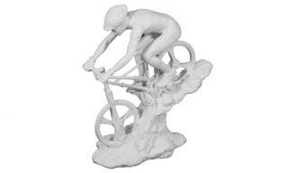 Statuetă Biciclist, Alb