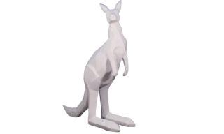 Statuetă Cangur, Alb