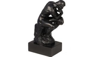 """Statuetă - """"Gânditorul"""", Negru"""