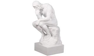 """Statuetă - """"Gânditorul"""", Alb"""