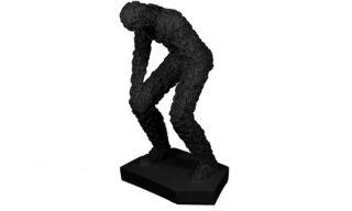 Statuetă Gânditor, Negru