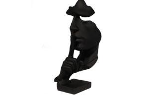 "Statuetă - ""Liniște"", Negru"
